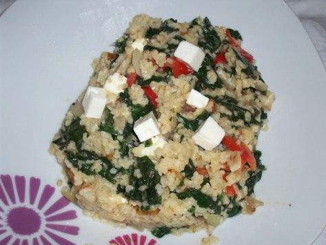 spinach and bulgur recipe