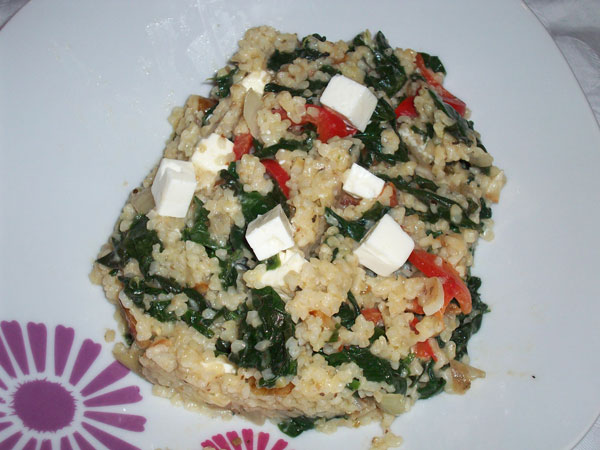 spinach and bulgur recipe