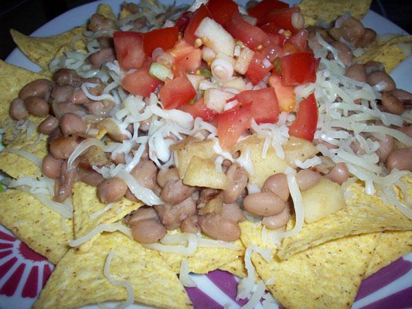 white bean and apple nachos