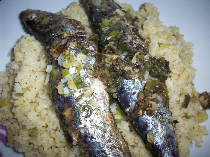 Mediterranean Sardines & Herbed Bulgur