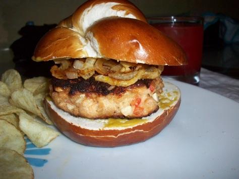close up burger
