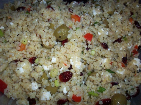 cranberry feta bulgur salad