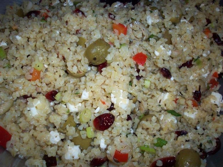 cranberry feta bulgur salad