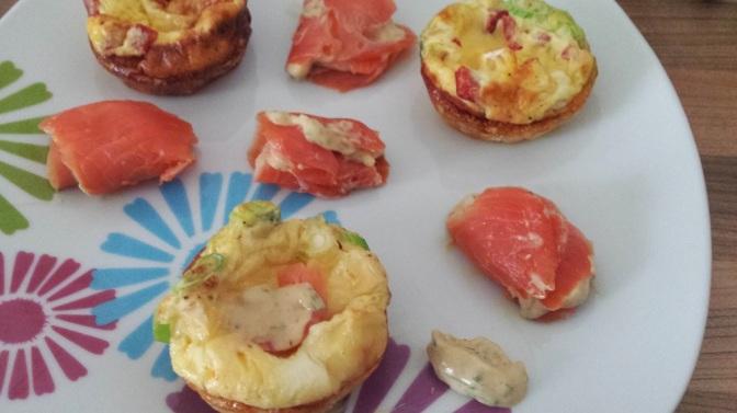 Mini Frittatas & Smoked Salmon Pinwheels
