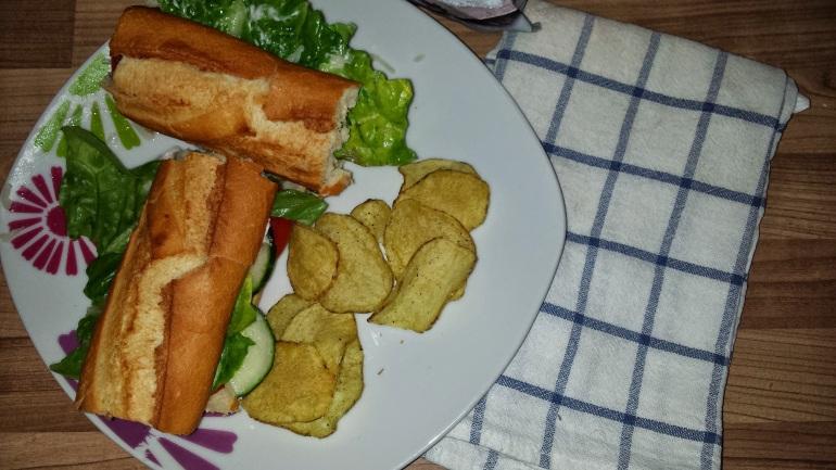veggie sub sandwich