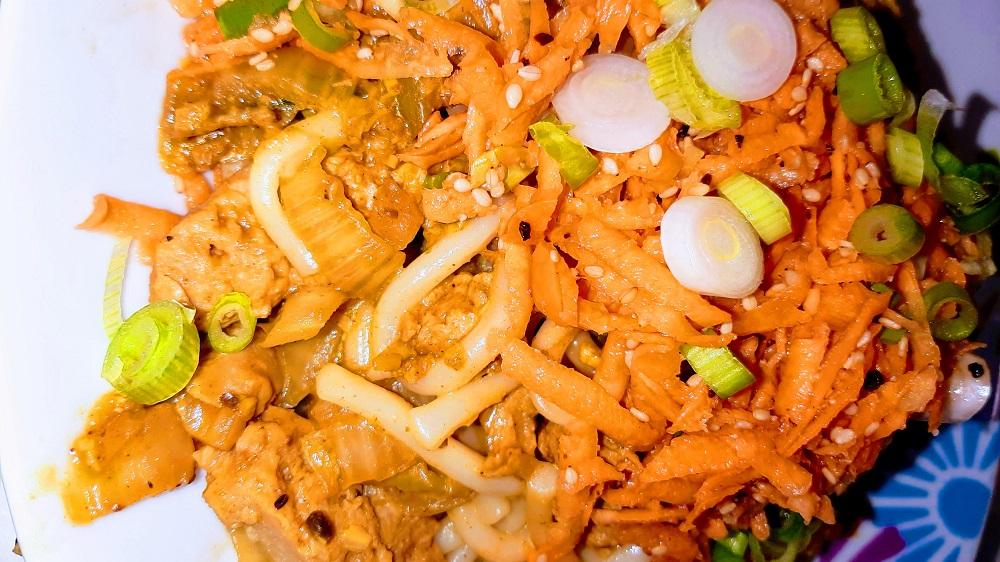 pickled carrot udon noodles