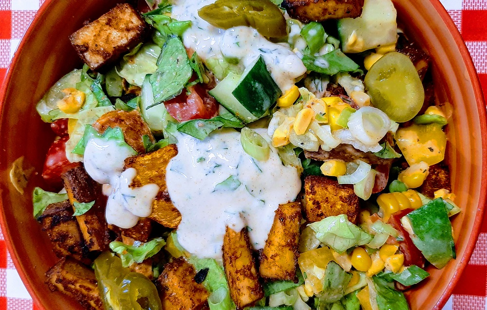 Easy vegan salads and homemade vegan salad dressing